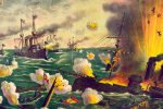 On 1 May 1898, at Manila Bay in the Philippines, the US Asiatic Squadron destroyed the Spanish Pacific fleet in the first major battle of the Spanish-American War (April–August 1898).