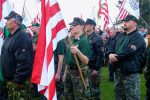 "The nationalist Jobbik party's rally and march against ""gypsy terror"" in Hejoszalonta, Hungary. 3 April 2011."