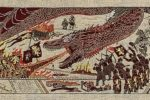 Battle of the Goldroad from Game of Thrones - Season 7 Episode 4 on the official tapestry produced in Northern Ireland.